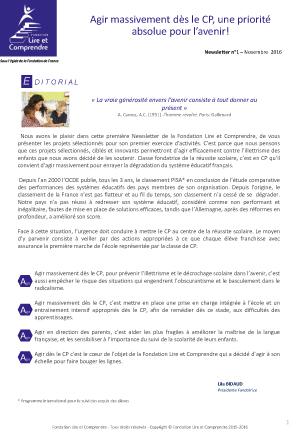 NewsLetter-Fondation-Lire-et-comprendre-n°1---novembre-2016-1